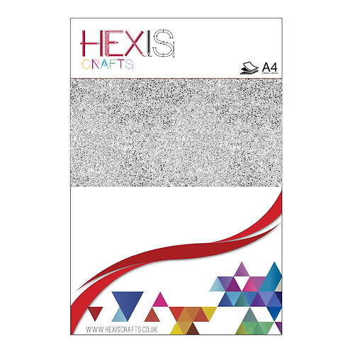 White Glitter Heat Transfer Flex Sheet