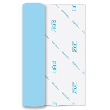 Ice Blue Heat Transfer Flock 305mm Wide x 500mm Long