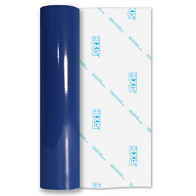 Ultramarine Blue Standard Permanent Gloss Self Adhesive Vinyl
