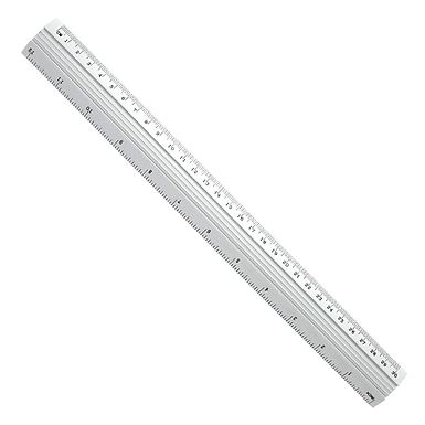 50cm Metal Ruler With cm & Inches
