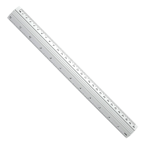 30cm Metal Ruler With cm & Inches