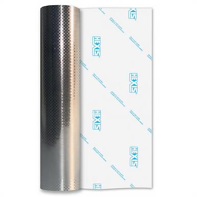 Silver Metal Carbon Fibre Self Adhesive Vinyl