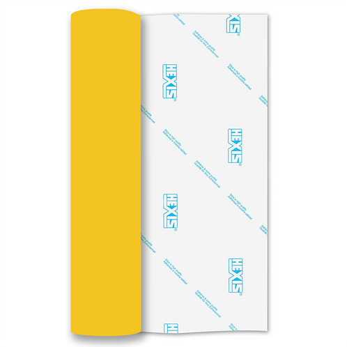 Lemon Yellow Heat Transfer Flex 305mm Wide x 500mm Long
