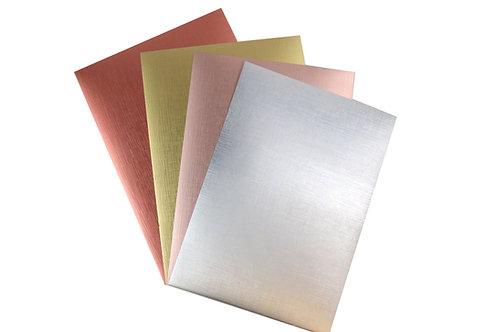 A4 Card Pack - Metallic Textured