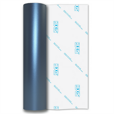 Sky Blue Shimmer Metal Satin Self Adhesive Vinyl