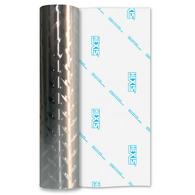 Silver Deck Plate Double Sided Gloss Self Adhesive Vinyl