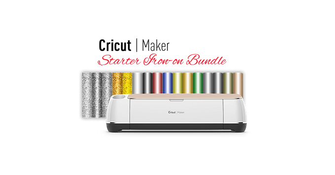 Cricut Maker® Machine With Starter Iron-on Bundle