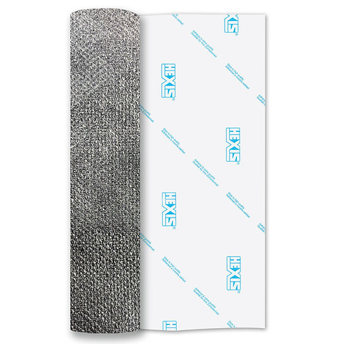 Silver PU Thin Soft Stretch Heat Transfer Flex 500mm Wide x 1m Long