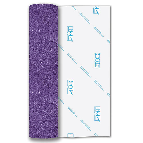 Lavender Glitter Heat Transfer Flex 140mm Wide x 500mm Long