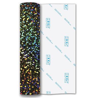 Silver Sequin Heat Transfer Flex 140mm Wide x 500mm Long