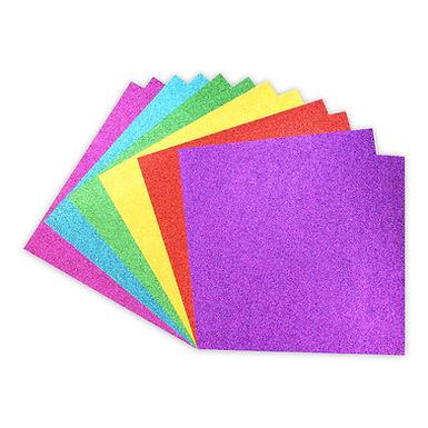"12"" x 12"" Glitter Card Pack - Rainbows"