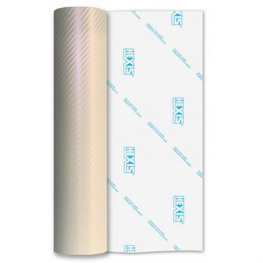 Pearl White Carbon HEX'Press Gloss Self Adhesive Vinyl