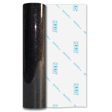 Catechu Black Sparkle HEX'Press Gloss Self Adhesive Vinyl