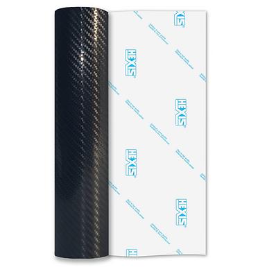 Black High Gloss Carbon HEX'Press Self Adhesive Vinyl