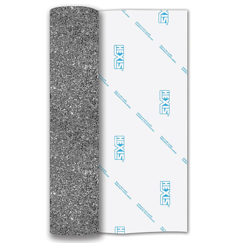 Platinum Glitter Heat Transfer Flex 140mm Wide x 500mm Long