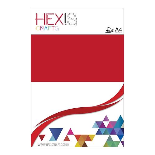 Flame Red Heat Transfer Flex Sheet