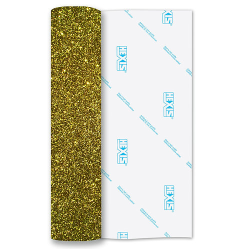 Yellow Glitter Heat Transfer Flex 305mm Wide x 500mm Long