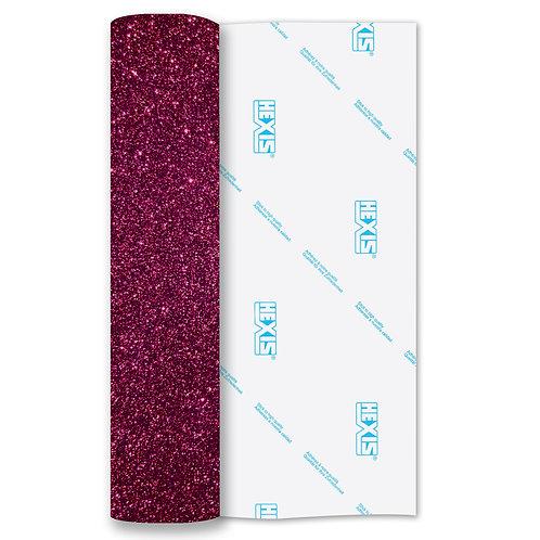 Pink Red Glitter Heat Transfer Flex 140mm Wide x 500mm Long