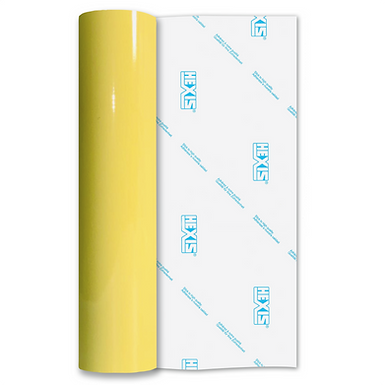Pastel Yellow Elite Permanent Self Adhesive Vinyl