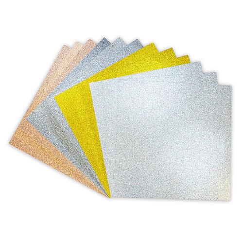 """12"""" x 12"""" Glitter Card Pack - Metallics"""