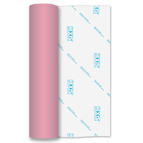 Baby Pink RAPIDFLEX Heat Transfer Flex 500mm Wide x 1m Long