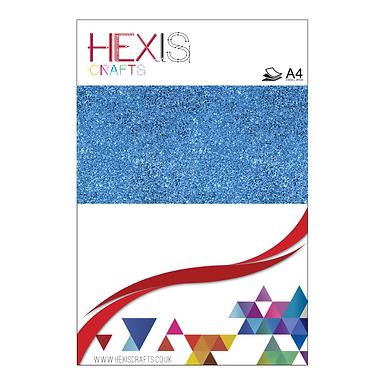 Sapphire Blue Glitter Heat Transfer Flex Sheets x 6