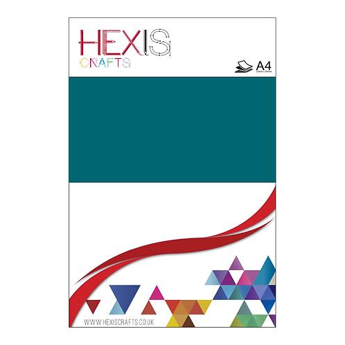 Turquoise Heat Transfer Flex Sheets x 6