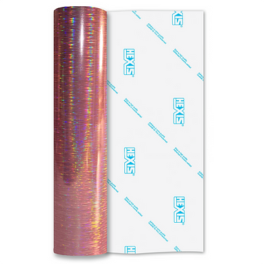 Pink Rain Double Sided Holographic Gloss Self Adhesive Vinyl