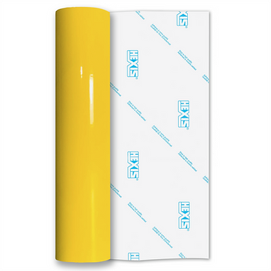 Light Yellow Standard Permanent Gloss Self Adhesive Vinyl