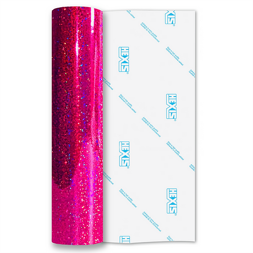 Raspberry Sequin Gloss Self Adhesive Vinyl