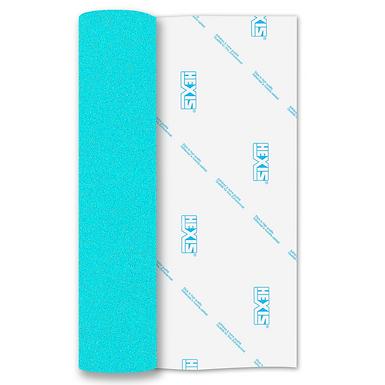 Blue Glitter Mix Heat Transfer Flex 305mm Wide x 500mm Long