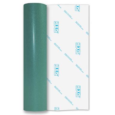 Teal Transparent Glitter Self Adhesive Vinyl
