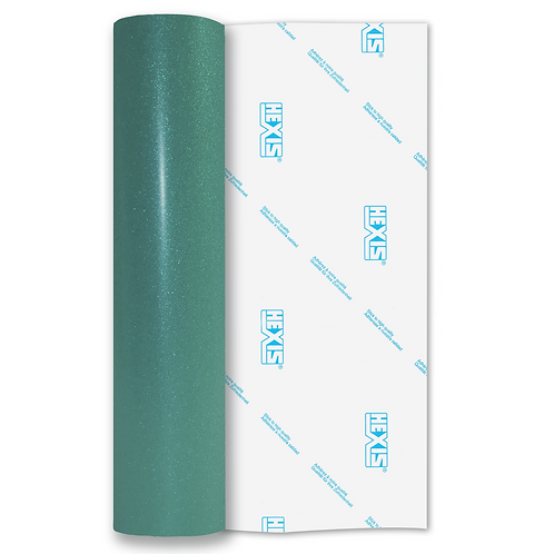Teal Transparent Glitter Self Adhesive Vinyl