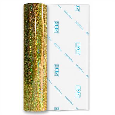 Gold Sequin Gloss Self Adhesive Vinyl