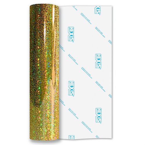 Gold Sequin Gloss Self Adhesive Vinyl