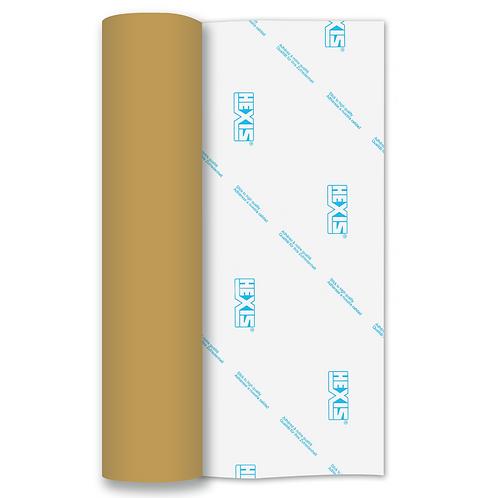 Bright Gold Metallic RAPIDFLEX Heat Transfer Flex 500mm Wide x 1m Long
