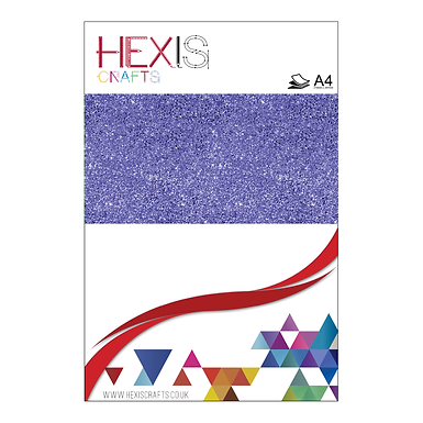 Royal Blue Glitter Heat Transfer Flex Sheets x 6