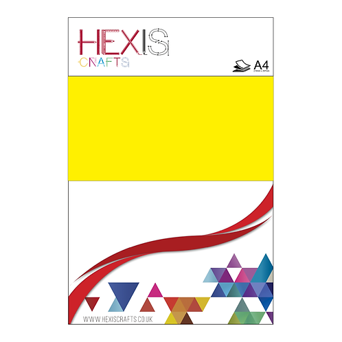 Neon Yellow Flock Heat Transfer Flex Sheets x 6