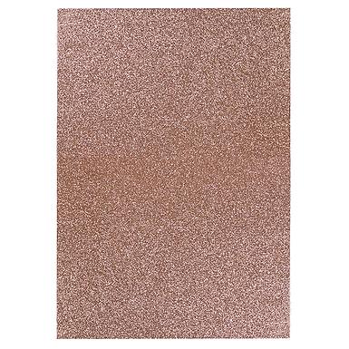 A4 Glitter Card Light Rose Gold
