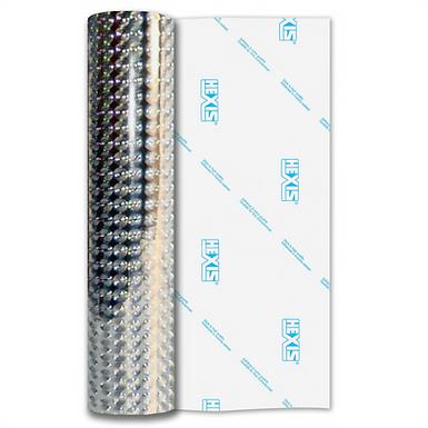 Silver Fantasy Bubbles Gloss Self Adhesive Vinyl