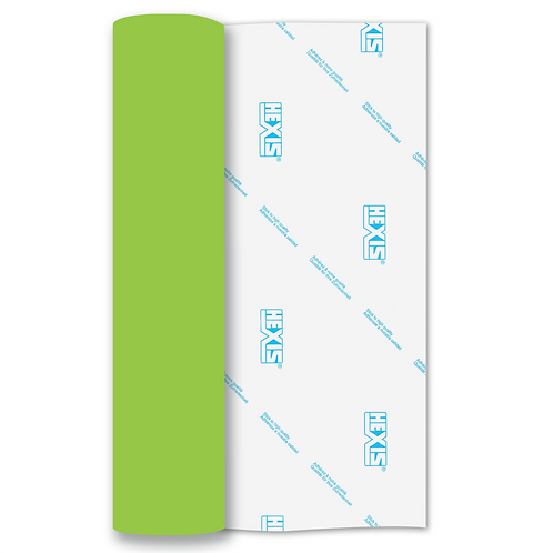 Light Green Heat Transfer Flex 305mm Wide x 500mm Long