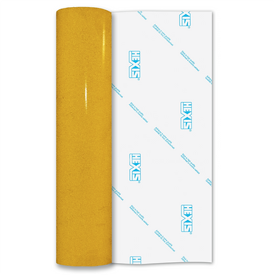 Yellow Reflective Permanent Gloss Self Adhesive Vinyl
