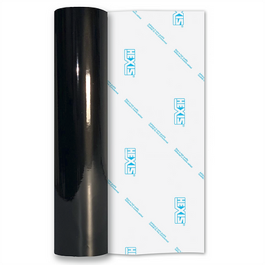Black Standard Permanent Gloss Self Adhesive Vinyl