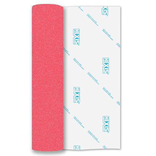 Neon Pink Glitter Mix Heat Transfer Flex 305mm Wide x 500mm Long
