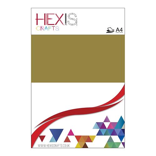 Gold Metallic Gloss Premium Self Adhesive Sheet