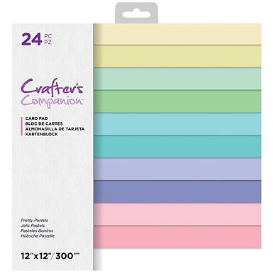 """Crafter's Companion 12"""" x 12"""" 24 Sheet Card Pad - Pretty Pastels"""
