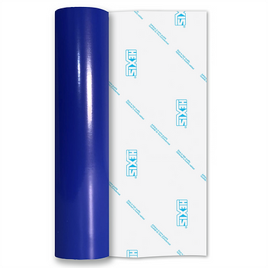 Electric Blue Standard Permanent Gloss Self Adhesive Vinyl