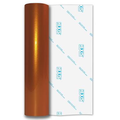 Orange Shimmer Metal Gloss Self Adhesive Vinyl