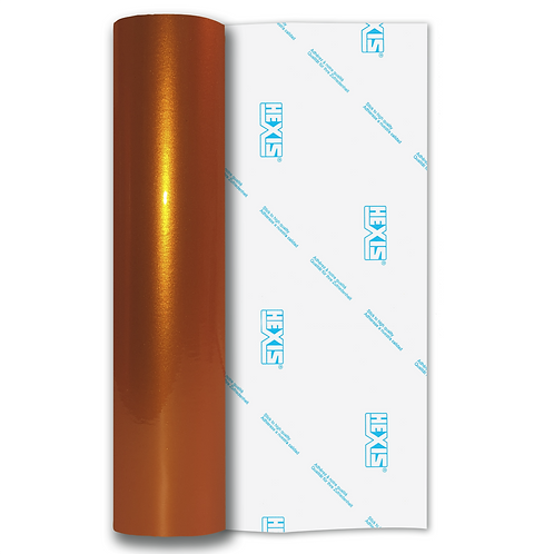 Orange Heavy Metal Gloss Self Adhesive Vinyl