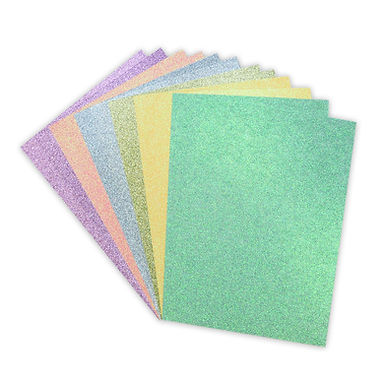 A4 Double Sided Glitter Card Rainbow Pastels Pack